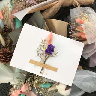 Dried flowers birthday card