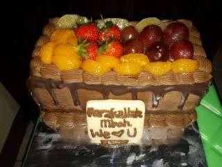Fruit cake mocca