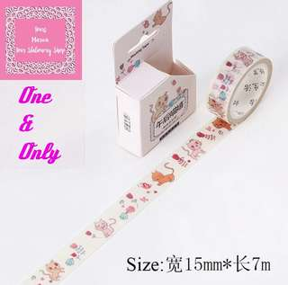 7m Cute Cat In Love Washi Tape