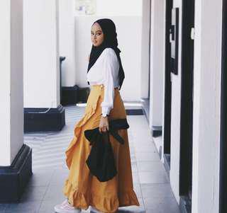 Fausta Wrap Style Ruffle Skirt