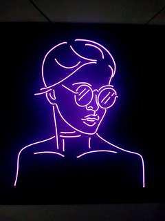 Custom tumblr neon sign