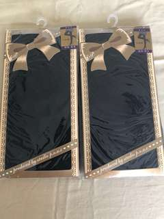 BN patterned black stockings- from Japan