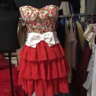 Cute Ribbon Cocktail Dress