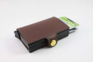 Leather Pop-Up Card Wallet