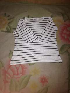 3/4 sleeves striped