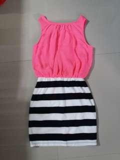 Ruby rox (pink stripe dress)