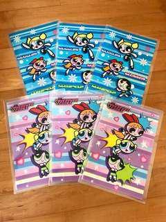 👍全新! Powerpuff Girls A4 Folder 6 Pieces 飛天小女警 文件夾 6個