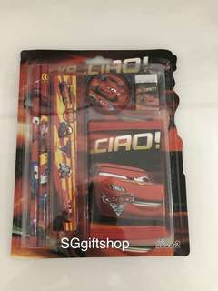 McQueen cars theme wallet stationary set - goody bag gift, student party goodies gift