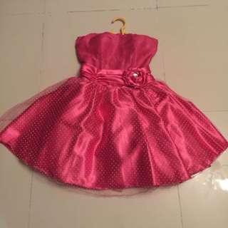 Cute Pink Polka Cocktail Dress