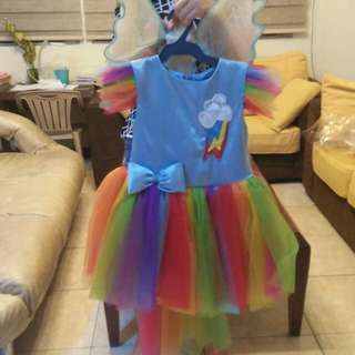Rainbow dash little pony custume