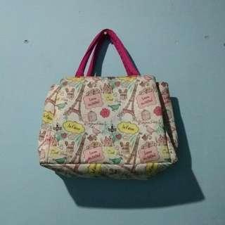 Paris pink bag