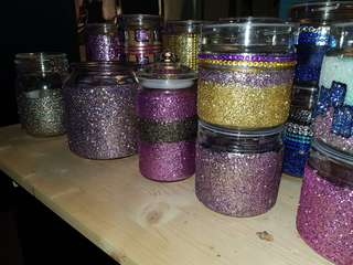 Glitter Cookies Container