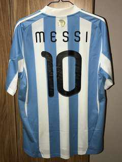 阿根廷🇦🇷美斯 2010南非世界盃 Argentina Messi World Cup 波衫 足球衣 adidas football soccer shirt kit