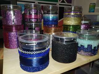 Colourful Glitter Cookies Jar