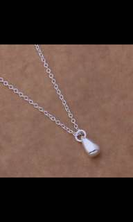 925 Chain Necklace Woman Luxurious Paragraph fashion Water Drop