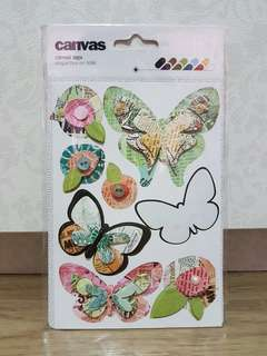 Canvas Tags (Butterflies)