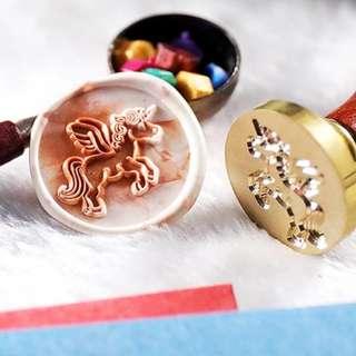 🚚 PO: 🎁Cutesy Unicorn Wax Seal Stamp