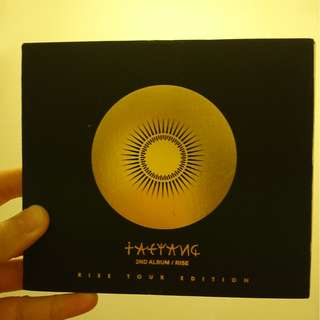 Taeyang 2nd album Rise tour edition with bonus track 太陽演唱會CD