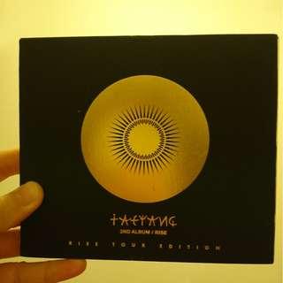 Taeyang 2nd album Rise tour edition with bonus track 太陽演唱會CD