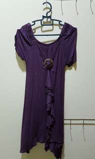 Purple maternity blouse