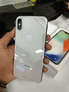 Apple IPHONE X 64 GB Silver Tanpa Kartu Kredit