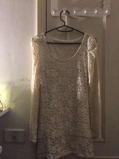 🚚 針織蕾絲 洋裝