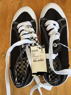 Black and white kids shoes