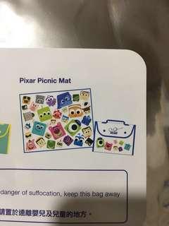 迪士尼 野餐墊 Pixar 白色款
