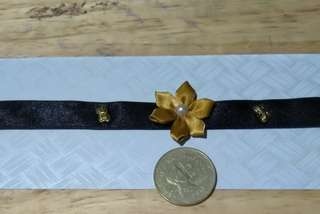 Choker Black - Flower and Butterfly