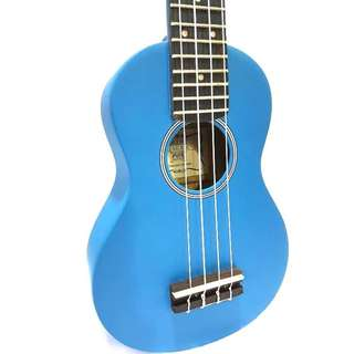 Trendy Blue Matt Soprano Ukulele at $50 with bag and pick