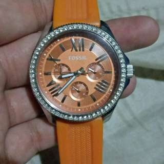 Fossil Silicone Strap Watch