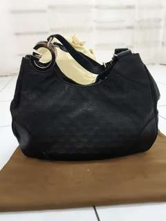 Gucci navy hobo bag