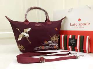 Kate spade with patches and anello wallet