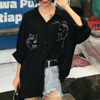 face long sleeve blouse