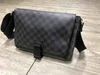 LV Damien Graphite Messenger Bag for Men