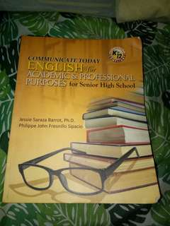 English for Academic & Professional Purposes for Senior High School