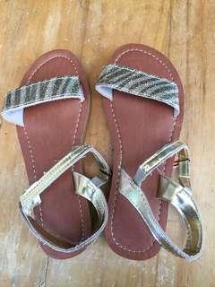 Kids gold sandal