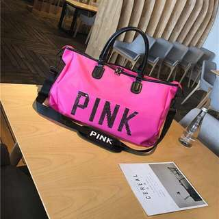 NEW Pink Travel Bag | Gym Fitness | Weekender Duffle Tote Bag