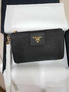 Authentic Prada Saffiano clutch bag