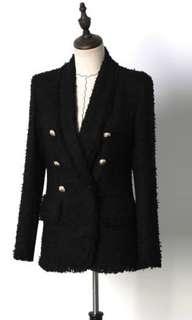Chanel Balmain Inspired Tweed Blazer
