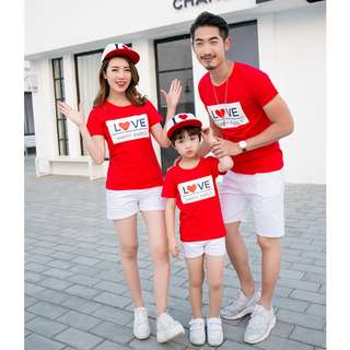 Couple / Family Matching Wear Printed Tees / T-Shirts / Baby Romper Clothes Set
