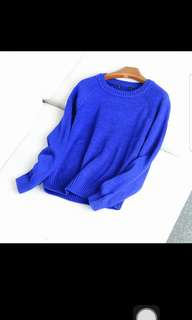 BN Blue Knitted Pullover