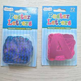 Holographic Poster Letters (Assorted)