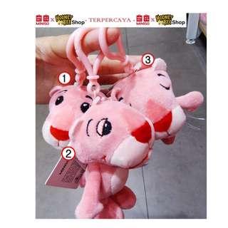 Japan Quality - Gantungan Tas Pink Panther Mini Miniso Import