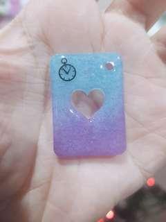 🚚 Heart Poker Card Resin Charm