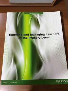 Teaching and managing learners at the primary level