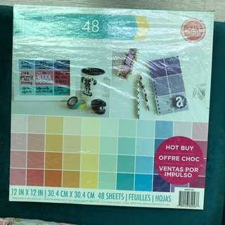 Scrapbook Paper Pad | Paint Chip