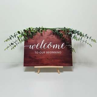 [For Rent] Welcome Board with Easel & Vine SM011