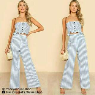 Stripe Top & Pants Coordinates