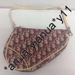 (二手品) 真品 Christian Dior Paris Pink Handbag